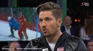 "Hirscher était l'invités de l'émission ""Sport & Talk"". [Compte Facebook ServusTV Sport - RTS]"