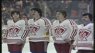 Le HC Bienne remporte la coupe de Suisse en 1981. [RTS]