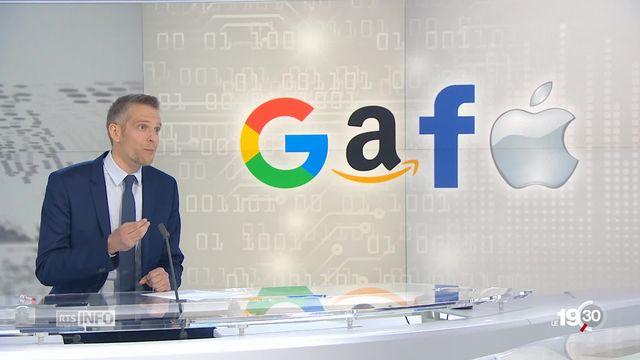 Taxes - GAFA: les explications de Gaspard Kühn, Chef rubrique économie [RTS]
