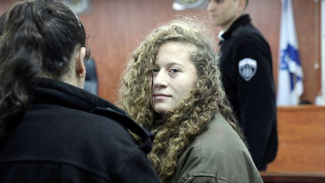 La jeune Palestinienne Ahed Tamimi à la prison de Ofer, près de Ramallah, en Cisjordanie, le 1er janvier 2018. [Ammar Awad - reuters]