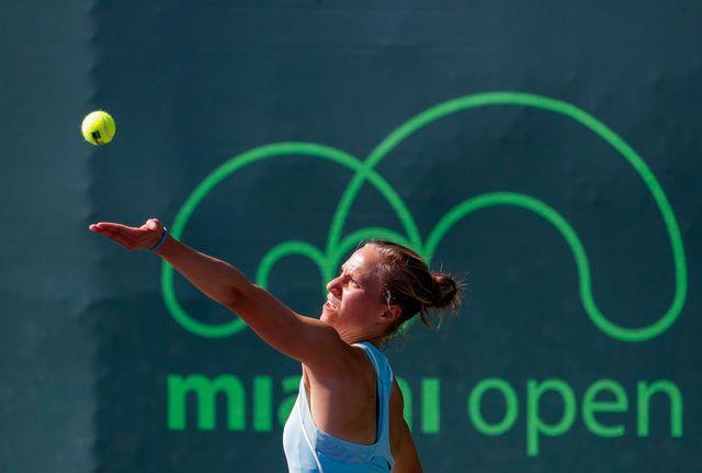 Viktorija Golubic peut nourrir des regrets après sa défaite contre Lepchenko. [Erik S. Lesser - Keystone]