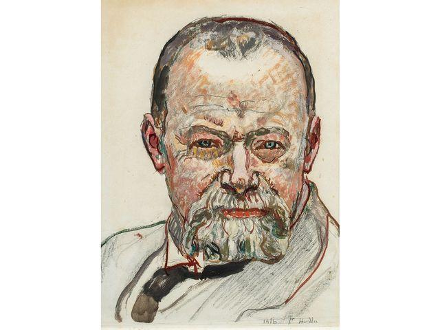 L'autoportrait de Ferdinand Hodler vendu aux enchères à Bâle date de 1916. [Beurret & Bailly ]