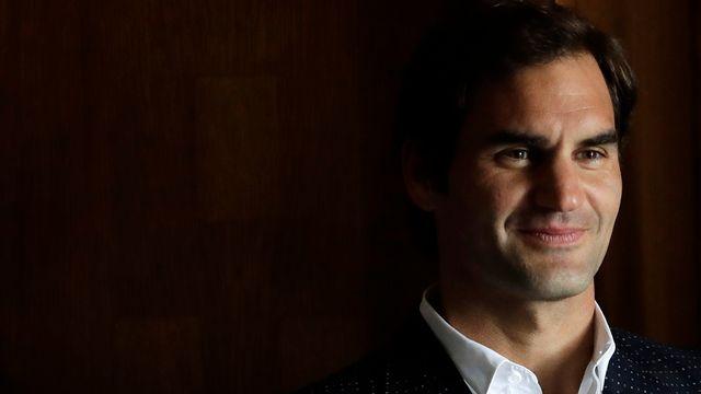 """Federer profite de la promotion de """"son"""" tournoi, la Laver Cup, pour récupérer d'Indian Wells avant de jouer à Miami. [Rex Arbogast - Keystone]"""