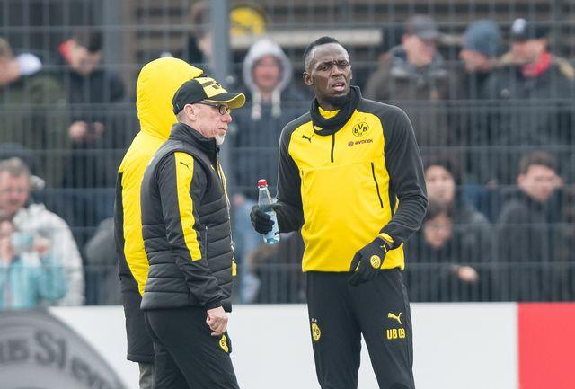 Bolt, qui connaît bien Jose Mourinho, s'imagine jouer un jour pour Manchester United. [Guido Kirchner - Keystone]