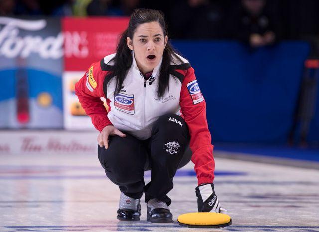 Binia Feltscher et son équipe n'auront pas réussi à se qualifier pour les quarts de finale. [Paul Chiasson  - Keystone]