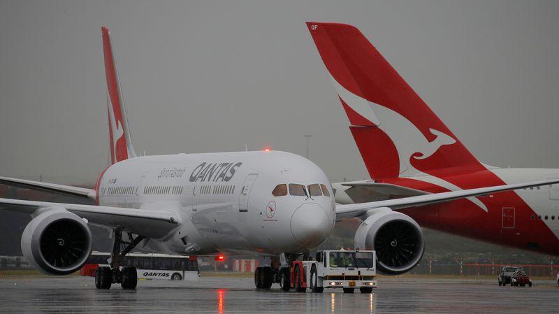 Carte Vol Qantas Australie.Premier Vol Direct Sans Escale Et Regulier Entre L Australie