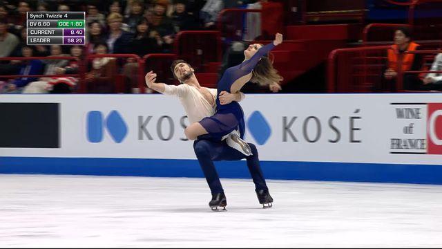Milan (ITA), libre danse: la paire française Gabriella Papadakis et Guillaume Cizeron sont champions du monde ! [RTS]