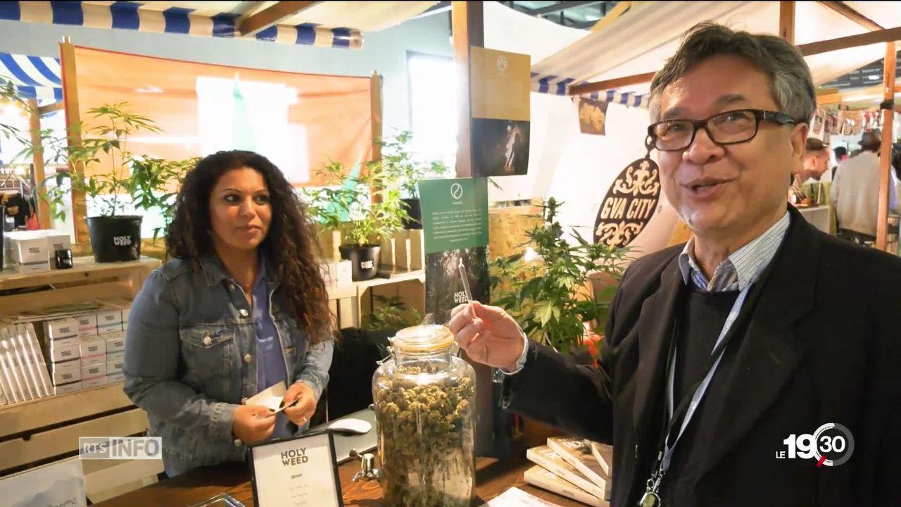 Salon Mednat à Lausanne: le cannabis fait son entrée [RTS]