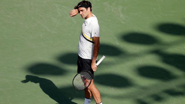 Roger Federer n'a visiblement pas su digérer sa défaite concédée face à Juan Martin Del Potro à Indian Wells. [Lynne Sladky - Keystone]