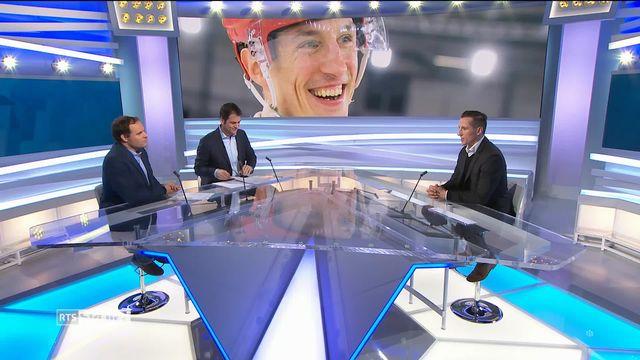 Hockey: entretien avec John Gobbi, Jeune retraité (3-3) [RTS]