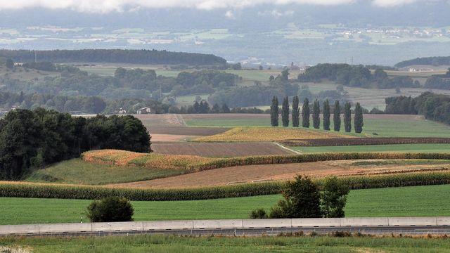 Vue depuis Bournens (VD) sur le village de La Praz et le Jura. [Bernard Favre - Vosinfos]