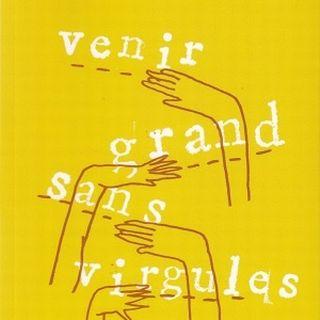 """La couverture de """"Venir grand sans virgules"""", Myriam Wahli (Editions L'aire)"""