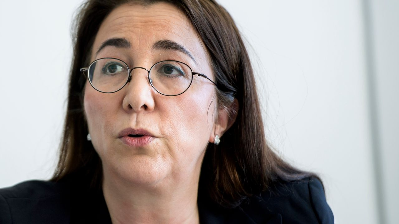 Cesla Amarelle, conseillère d'Etat socialiste vaudoise. [Jean-Christophe Bott - Keystone]