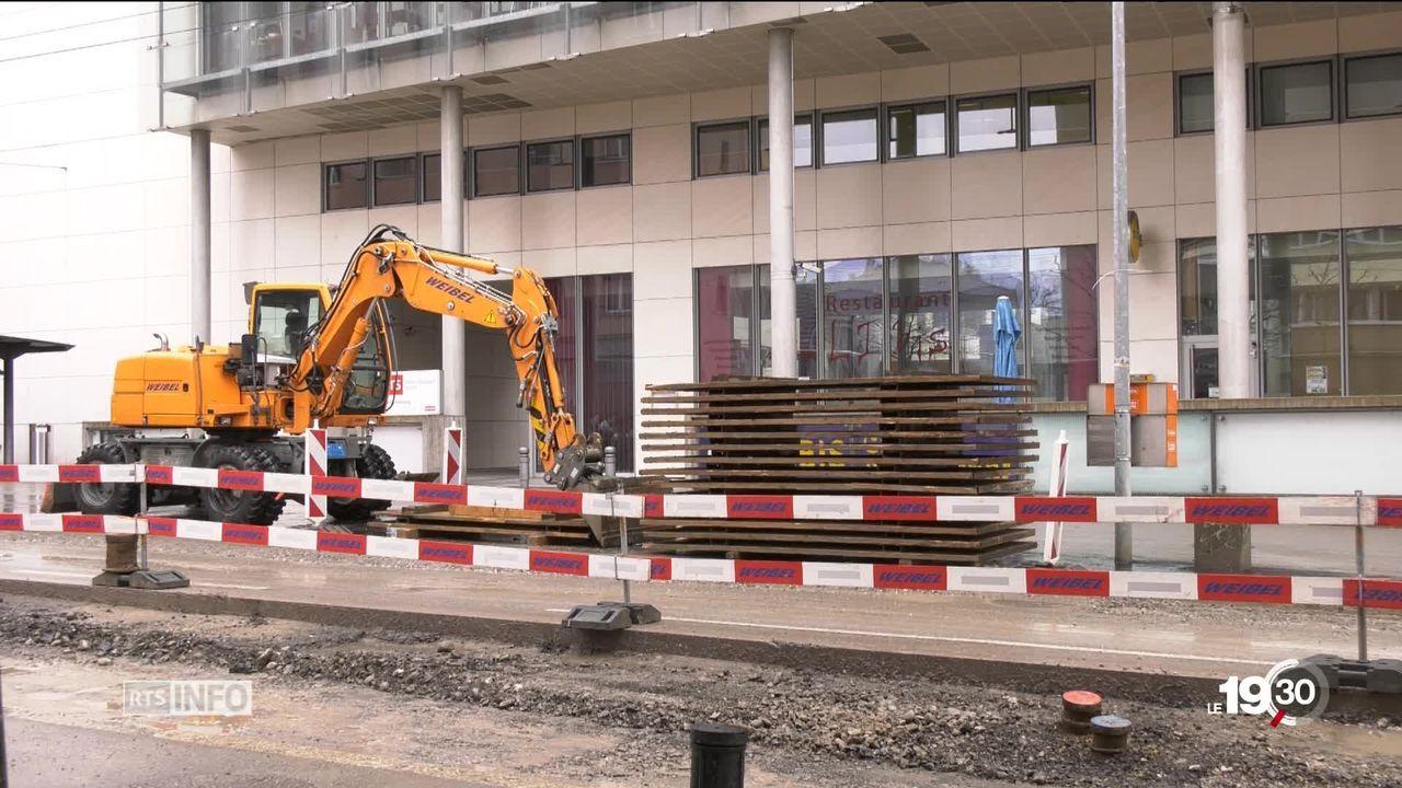 Centre-ville de Fribourg: le chantier de la discorde [RTS]