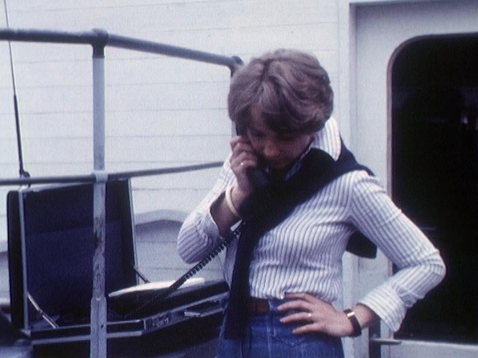 La valise téléphonique, une nouveauté technologique présentée au printemps 1978. [RTS]