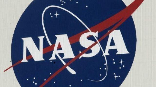 Le logo de la Nasa en 2007 au Centre spatial Kennedy [AFP]
