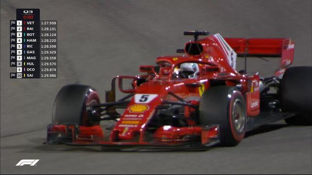 Q3: Sebastian Vettel (GER) partira en pole position, devant Kimi Raikkonen (FIN) et Valtteri Bottas (FIN) [RTS]