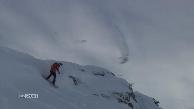 Verbier (SUI), snowboard messieurs: l'Américain, Sammy Luebke, remporte la dernière course [RTS]