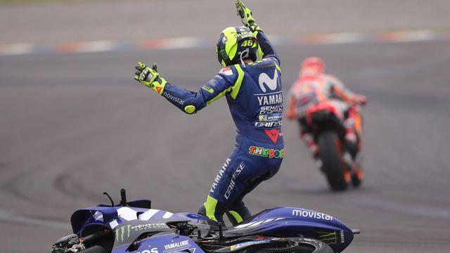 Valentino Rossi a eu des mots très durs envers l'Espagnol. [Nicolas Aguilera - Keystone]