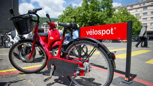 La société biennoise Intermobility se battait pour établir son service Velospot à Berne. [Gian Ehrenzeller - Keystone]