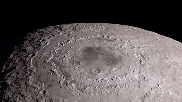 Une image du bassin oriental de la Lune capturé par la sonde Lunar Reconnaissance Orbiter (LRO) de la Nasa. [Nasa]