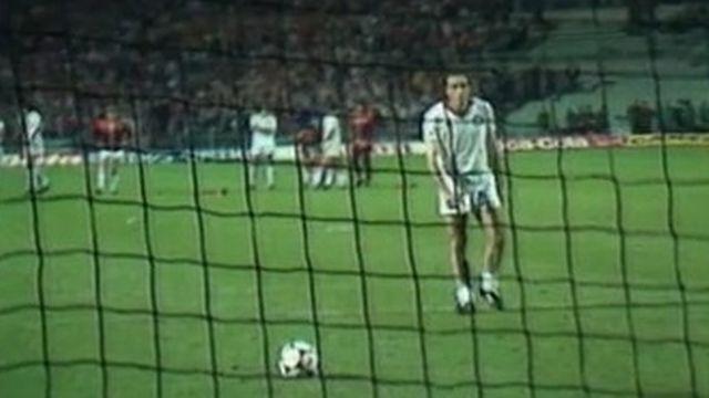 Francesco Graziani au moment de tirer le dernier penalty pour la Roma. [RTS]