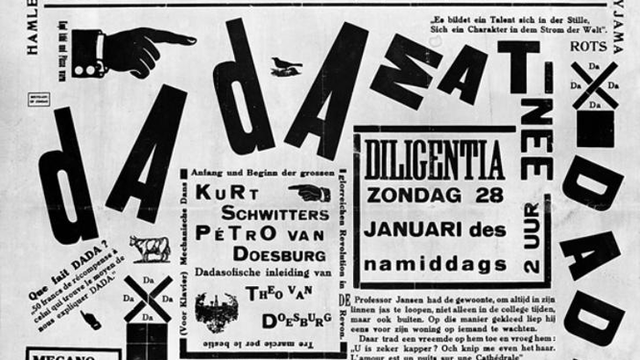 Poster for Dada Matinée [Theo van Doesburg - Wikimedia Commons]