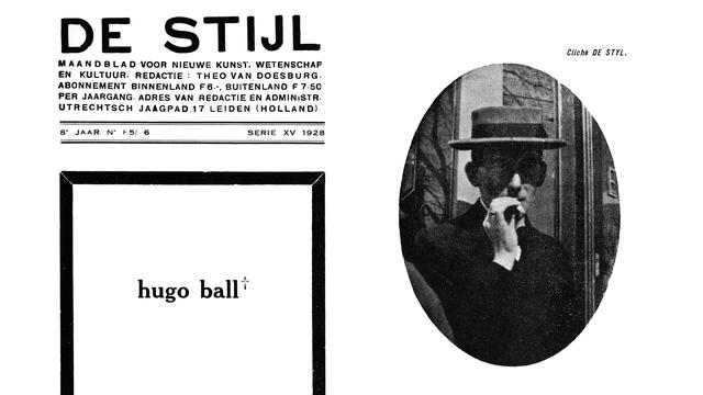 Hugo Ball,1928 [Theo van Doesburg - Wikimedia Commons]