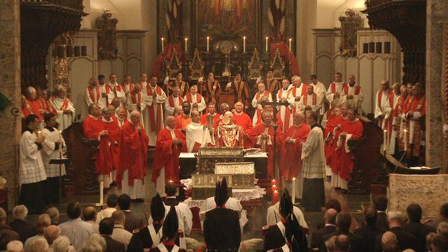 2014. Messe de Minuit à Saint-Maurice (Suisse) [Charly Défago - RTS/Charly Défago]