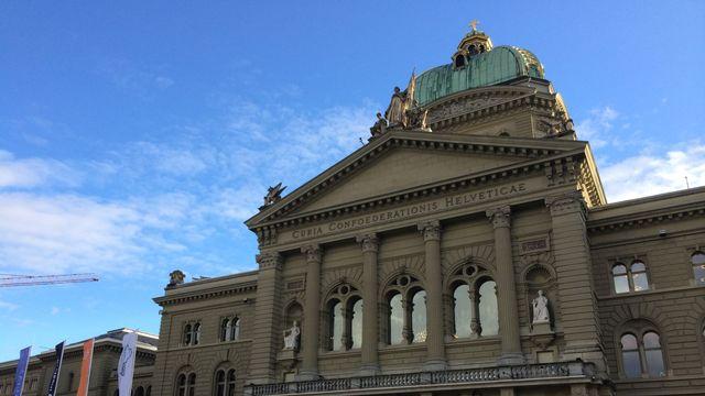 Le Palais fédéral à Berne, siège du gouvernement et du parlement helvétiques. [Manuella Maury - RTS]