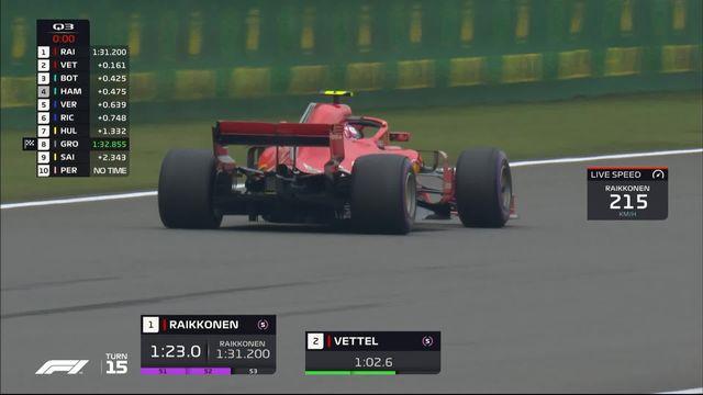 GP de Chine (N°3), Q3: Vettel (GER) s'élancera devant Räikkönen (FIN) et Bottas (FIN) [RTS]