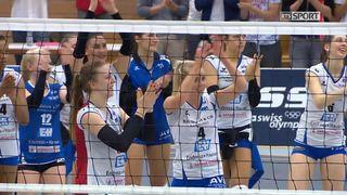 1-2 finale dames, match I: Aesch - Volero (3-1): les Bâloises remportent le premier acte [RTS]