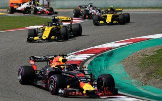 Daniel Ricciardo a battu Sebastian Vettel pour s'adjuger le GP de Chine. [Franck Robichon - Keystone]