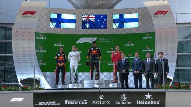 GP de Chine (N°3): victoire de Ricciardo (AUS) devant Bottas (FIN) 2e et Raikkonen (FIN) 3e [RTS]