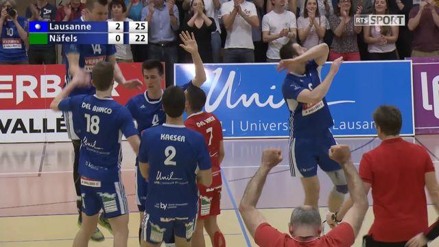 Finale messieurs, acte 1: Lausanne bat Naefels 30-28, 25-21, 25-22: les points du match [RTS]