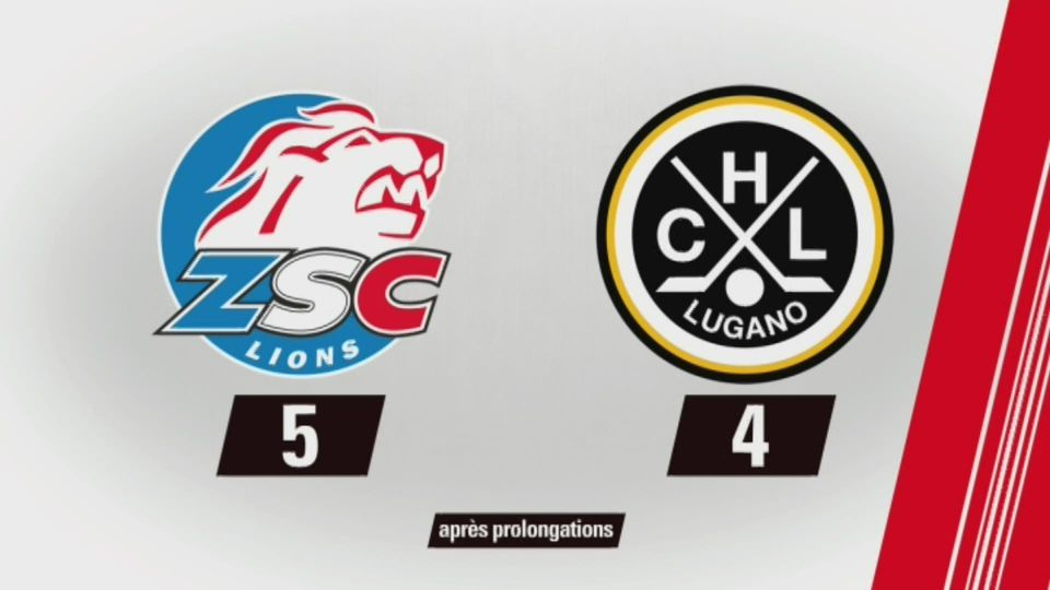 Finale, acte II, Zurich – Lugano (5-4) : tous les buts [RTS]