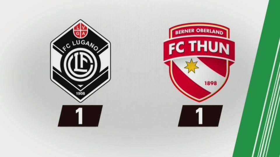 29e journée, Lugano – Thoune (1-1) : tous les buts [RTS]