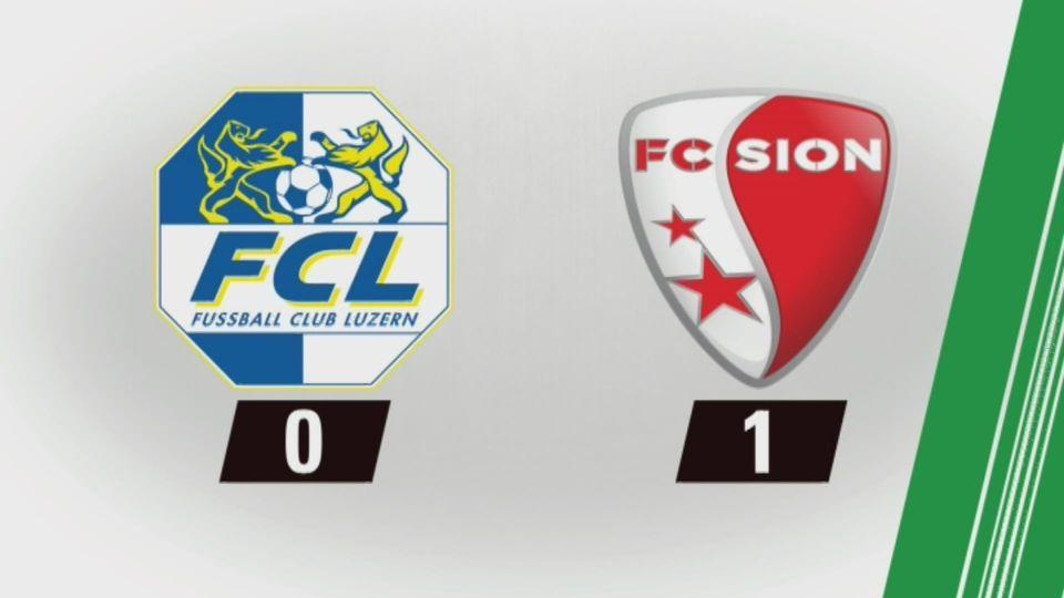 29e journée, Lucerne – Sion (0-1) : tous les buts [RTS]