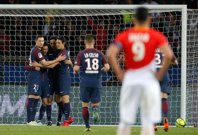 Paris n'a laissé aucune chance à Monaco [Michel Euler - AP Photo/Keystone]