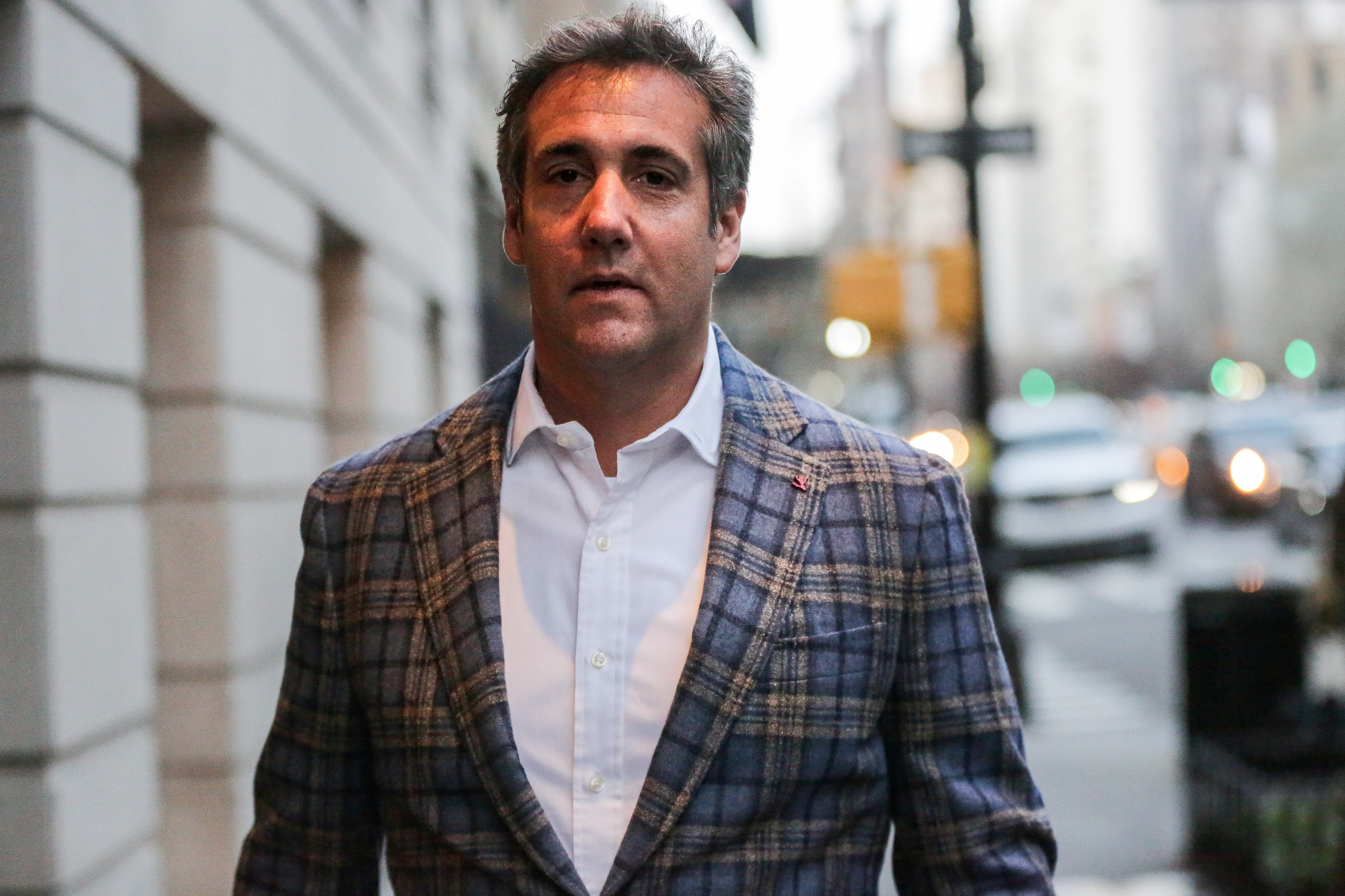 Michael Cohen, l'avocat personnel de Donald Trump comparaît ce lundi devant une juge de-New York. Ici à New York le 13 avril.