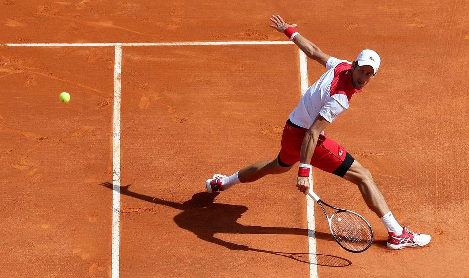 Djokovic a fêté sa 4e victoire de l'année. [Sébastien Nogier - Keystone]