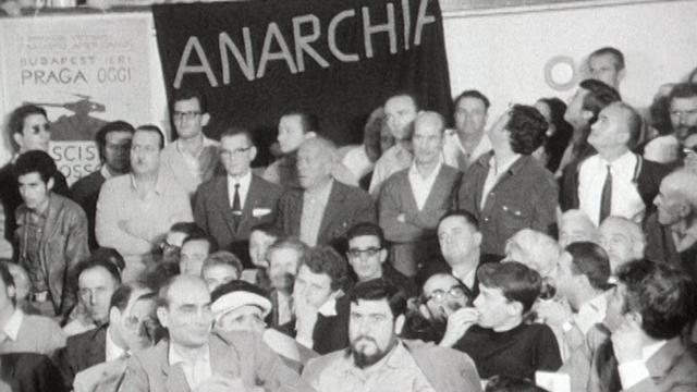 Congrès anarchiste de Carrare en 1968. [RTS]