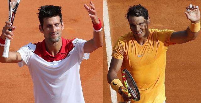 Novak Djokovic et Rafael Nadal sont encore en lice au tournoi de Monte Carlo. [Sébastien Nogier - Keystone]