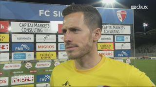 30e journée, Sion – Lugano (0-1): l'interview de Kevin Fickentscher après la défaite de Sion [RTS]