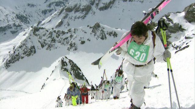 La course de ski alpinisme de la Patrouille des Glaciers. [RTS]