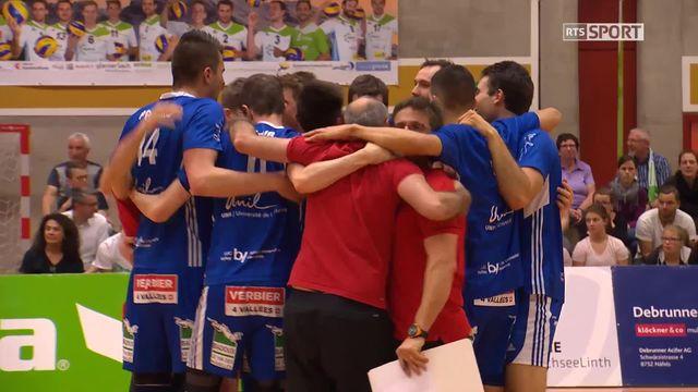 Finale hommes, acte II: Näfels - LUC (1-3): Lausanne n'est plus qu'à un match du titre [RTS]