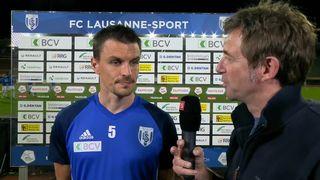 30e journée, Lausanne-Sport - FC Lucerne (0-1): la réaction du défenseur lausannois Alain Rochat [RTS]