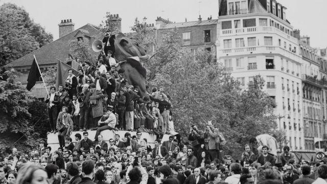 La révolte de Mai 68 à Paris. [EPA/PREFECTURE DE POLICE MUSEUM  - Keystone]