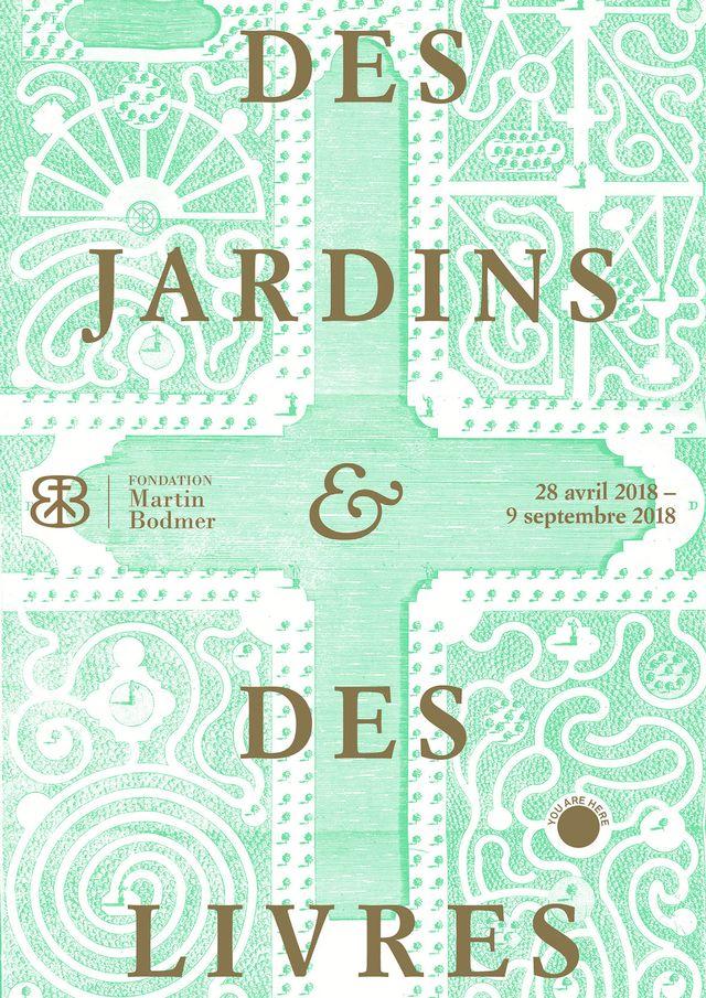 """L'affiche de l'exposition """"Des jardins et des livres"""""""