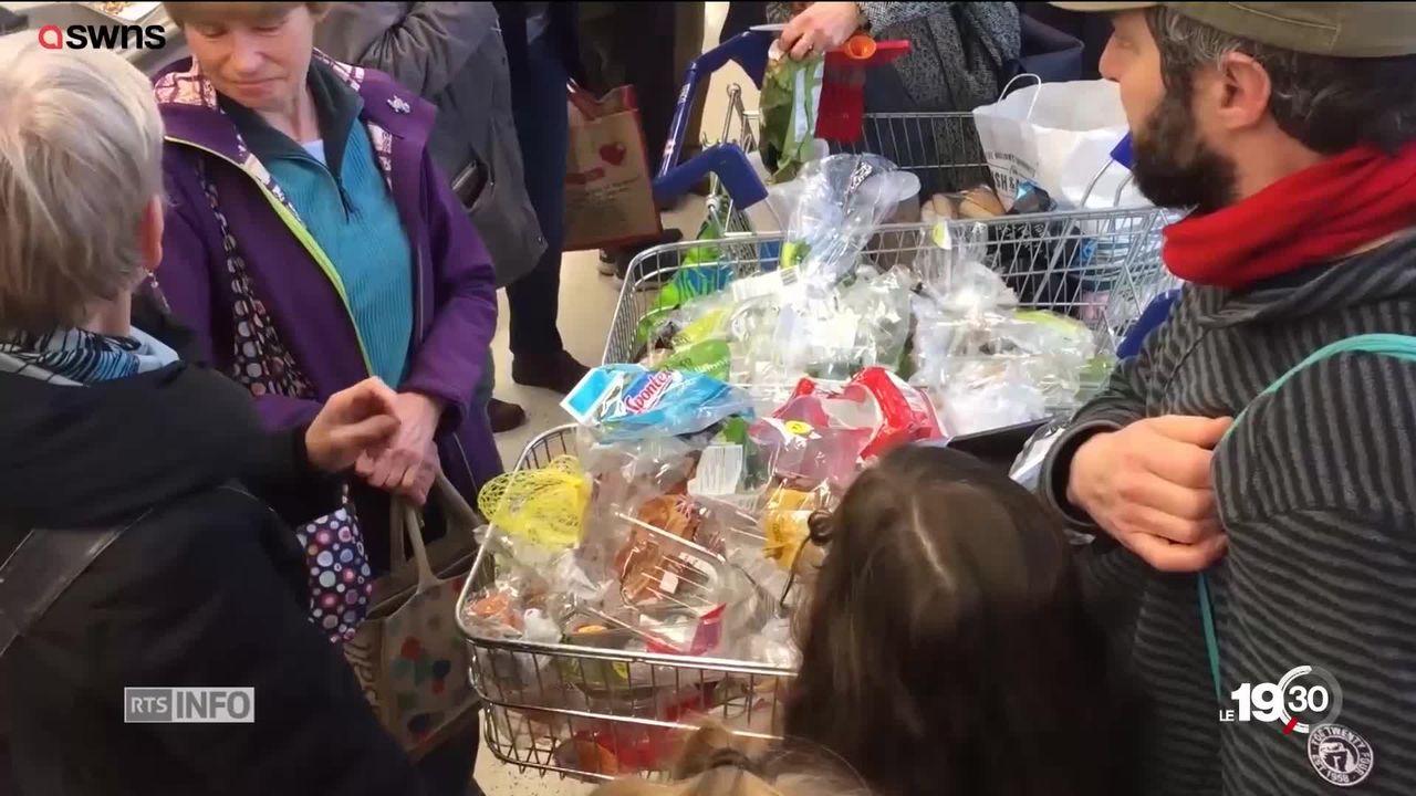 Les actions contre les emballages plastiques gagnent la Suisse [RTS]
